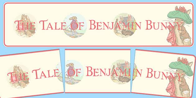 Beatrix Potter - The Tale of Benjamin Bunny Display Banner - beatrix potter, benjamin bunny