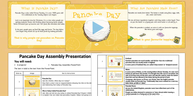Pancake Day Assembly Pack - Pancake Day, Shrove Tuesday, Assembly, pack, assembly pack