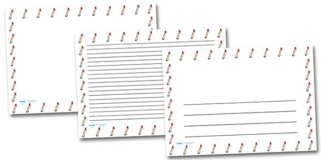 Arm Landscape Page Borders- Landscape Page Borders - Page border, border, writing template, writing aid, writing frame, a4 border, template, templates, landscape
