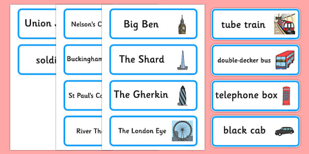 London Hunt Word Cards - london hunt, word cards, london, hunt, words, cards