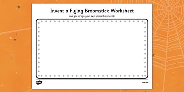 Invent a Flying Broomstick Activity Sheet to Support Teaching on Room on the Broom - room on the broom, invent a flying broomstick, worksheet, themed activities, creative worksheet