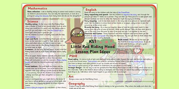 Little Red Riding Hood Lesson Plan Ideas KS1 - little, red, riding, hood, lesson, plan, lesson plan, ideas, lesson ideas, KS1, KS1 lesson ideas