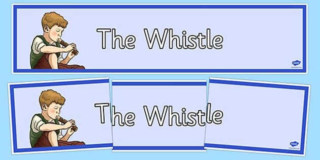 Charles Murray The Whistle Poem Display Banner - cfe, charles murray, scots, poem, poetry, the whistle, display banner