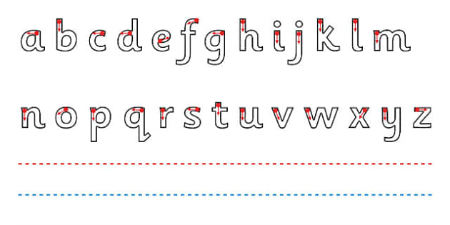 Line Guide with Letters (Landscape) - Line Guides, Line guide, Handwriting, Writing aid, Learning to write