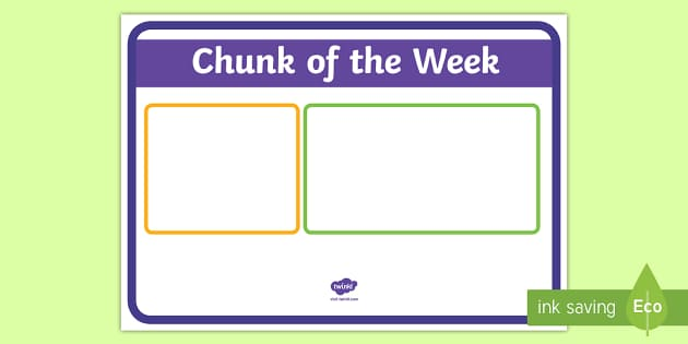 Chunk of the Week Display Poster - New Zealand Class Management, chunk, letter, sounds, spelling