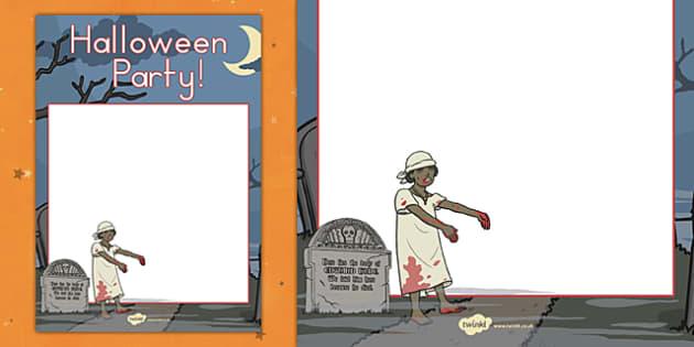 Halloween Party Editable Poster - display, fun, american, US, KS1, KS2, early years