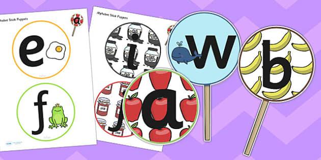 Alphabet Cut Outs - alphabet, cut outs, cut, outs, letters, visual aid