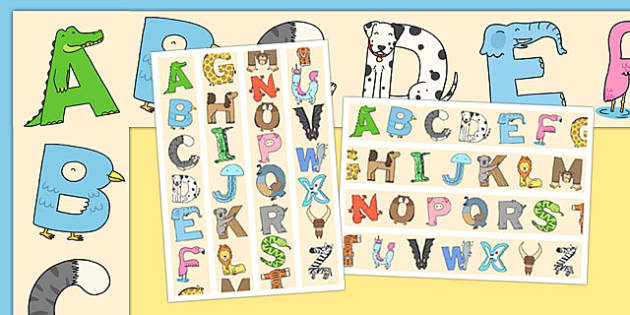 Animal Alphabet Display Borders - animal, alphabet, display borders