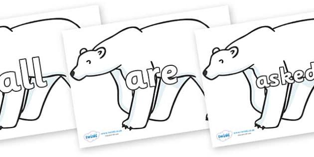 Tricky Words on Polar Bears - Tricky words, DfES Letters and Sounds, Letters and sounds, display, words