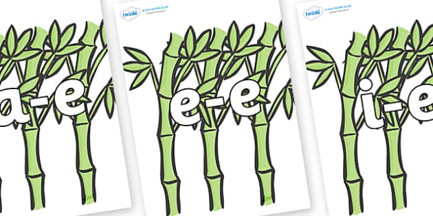 Modifying E Letters on Bamboo - Modifying E, letters, modify, Phase 5, Phase five, alternative spellings for phonemes, DfES letters and Sounds