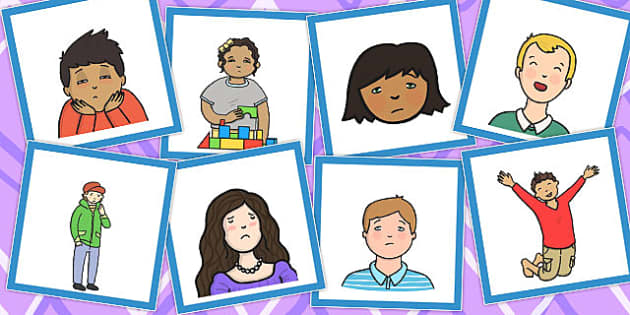 Emotions Matching Cards Set 3 Pictures Only - emotions, match