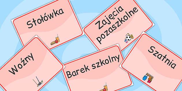 Polish School Room Signs - polish, school room, signs, school