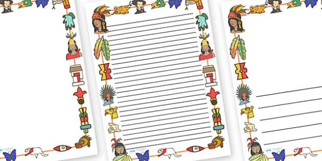 Aztec Page Borders - Aztec, aztec people, Mexican, history, Mexico, tenochtitlan, texcoco, lake, temple, tenoch, Valley of Mexico