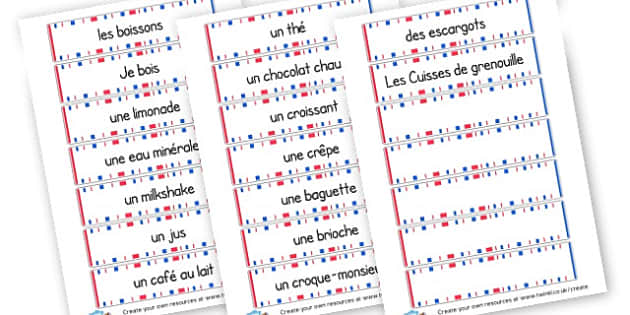 French Food Word Cards - French Literacy Primary Resources,French,Languages,Literacy,Words