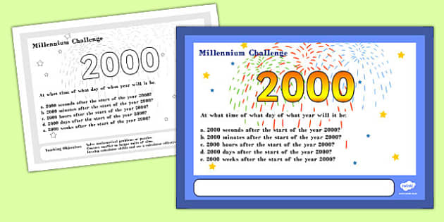 Millennium Maths Challenge A4 Display Posters - challenge, math