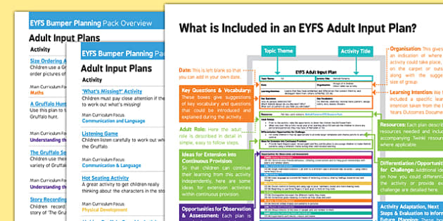 EYFS Bumper Planning Pack to Support Teaching on The Gruffalo Overview - EYFS planning, early years activities, Julia Donaldson