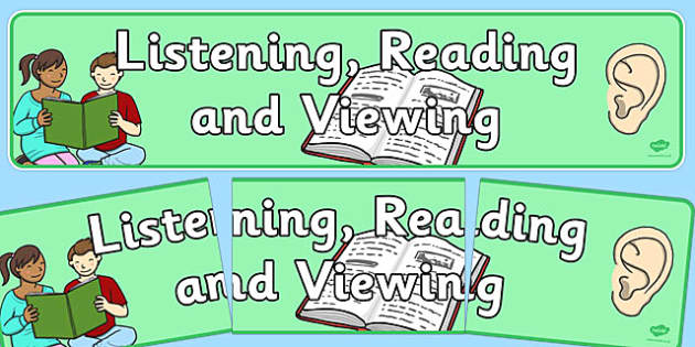 Listening, Reading and Viewing Display Banner NZ - nz, new zealand, listening, reading, display