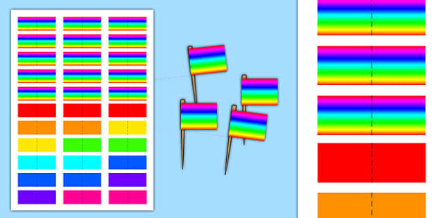 Generic Party Toothpick Flags - generic, party, generic party, celebrate, toothpick, flags