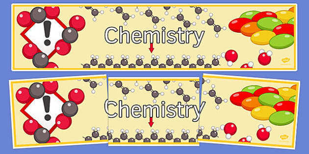 KS3 Chemistry Display Banner - ks3, chemistry, display banner, display, banner