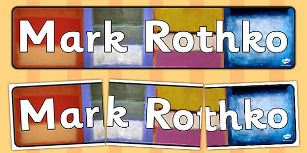 Mark Rothko Display Banner - mark, rothko, display banner, banner