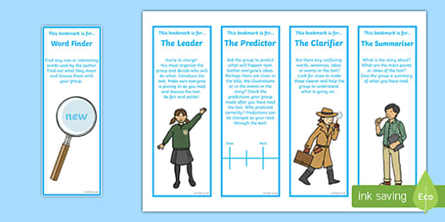 CfE Reciprocal Reading Pupil Role Bookmarks-Scottish