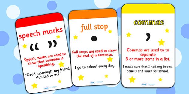 Punctuation Flashcards - punctuation, flashcards, punctuation flashcards, punctuation cards, punctuation word cards, key words, flash card