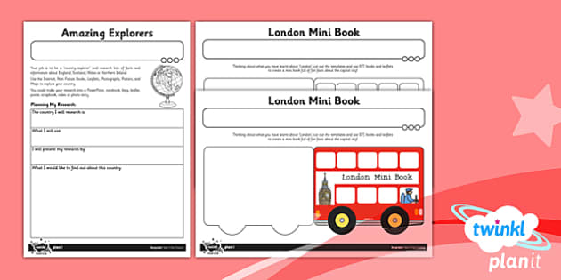 PlanIt - Geography Year 1 - Our Country Unit Home Learning Tasks