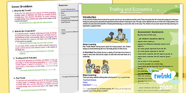 PlanIt - Geography Year 6 - Trade and Economics Planning Overview