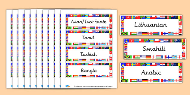 Languages in Our School Cards
