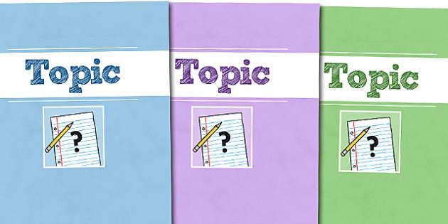 A4 Topic Divider Covers - A4 Topic Divider Covers, Topic Divider Covers, Divider Covers, Topic