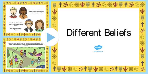 Different Beliefs PowerPoint - religion, religions, belief, multi