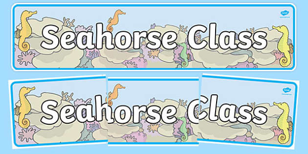 Seahorse Themed Classroom Display Banner - Themed banner, banner, display banner, Classroom labels, Area labels, Poster, Display, Areas