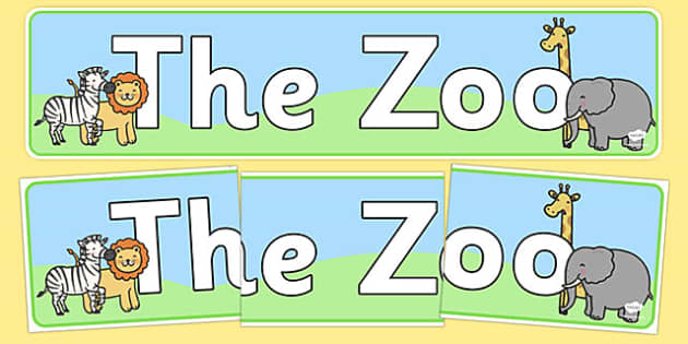 Zoo Role Play Display Banner - Zoo Role Play, zoo, at the zoo, zoo resources, banner, zoo animals, animals, zoo ticket, the zoo, living things, role play, display, poster