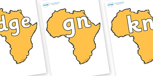 Silent Letters on Africa - Silent Letters, silent letter, letter blend, consonant, consonants, digraph, trigraph, A-Z letters, literacy, alphabet, letters, alternative sounds