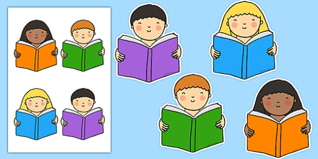 Reading Cut Outs - reading, read, cut outs, cut, outs, display, display cut outs