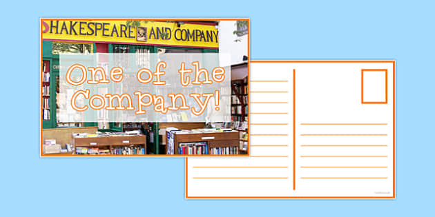 Reward Postcard Shakespeare and Co - reward, postcard, shakespeare, reward postcard, praise