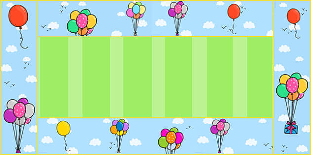 Balloon Display Borders - balloon, display borders, display