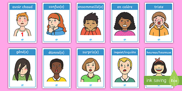 Emotions and Expressions Posters French - french, france, francais, emotions, expressions,emtions, pictures of people frieghtened