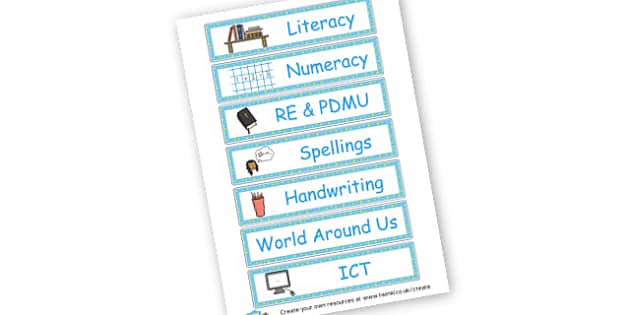 Northern Ireland Subject Labels - Resource Labels Primary Resources, resource, label, drawer labels