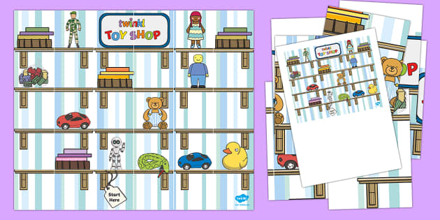 Toy Cupboard Bee-Bot Mat - Toys, ict, it, technology, bee-bot, directions, bee-bot mat