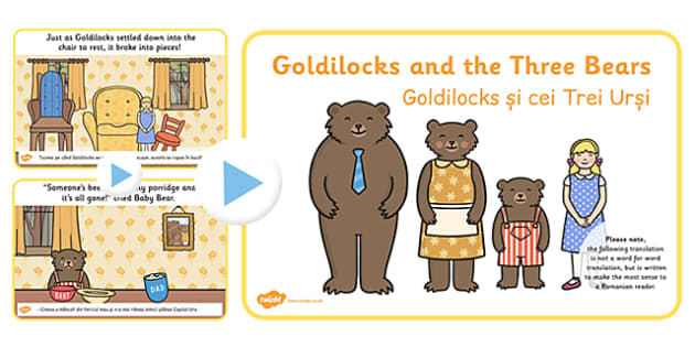 Goldilocks Three Bears Story PowerPoint EAL Romanian Translation