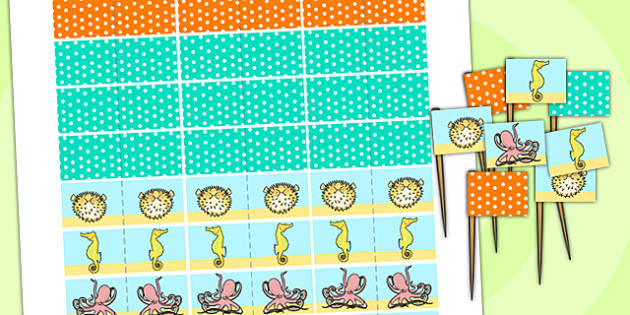Under the Sea Themed Birthday Party Toothpick Flags - birthdays