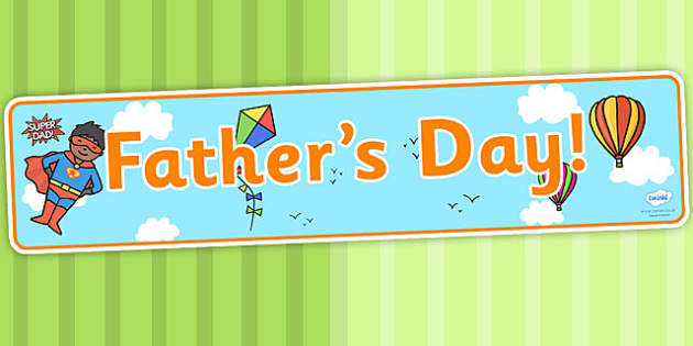 Father's Day Display Banner - header, display, dad, father