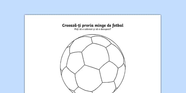 Creează-ți propria minge de fotbal - Fișă de lucru