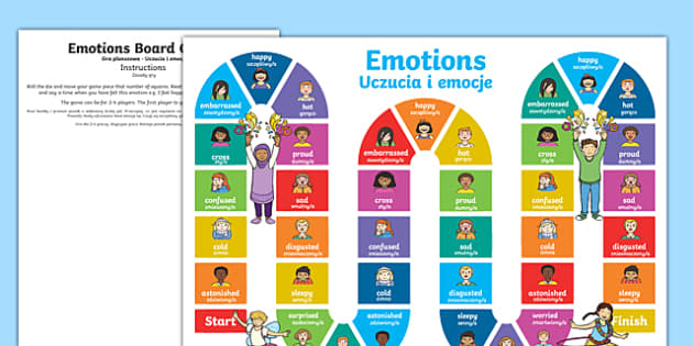 Emotions board game English Polish/English
