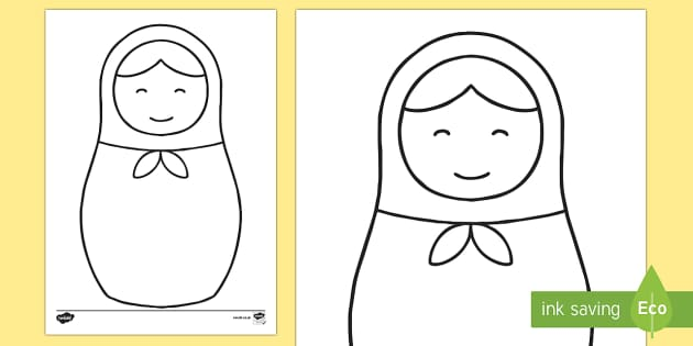 Doodle Draft Russian Doll Activity Sheet
