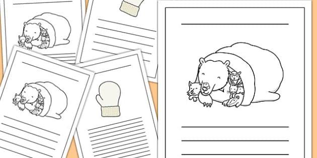 The Mitten Writing Frames - the mitten, writing frames, writing, frames