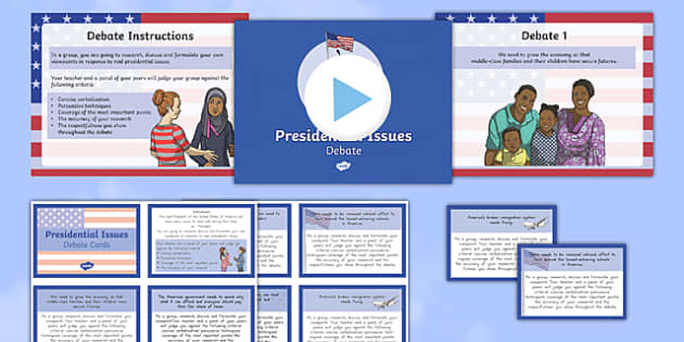 Presidential Issues Debate Pack - usa, america, presidential issues, debate, pack