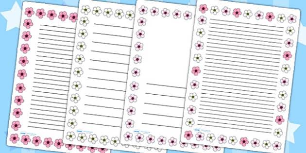 Blossom Page Borders - blossom, spring, seasons, page borders