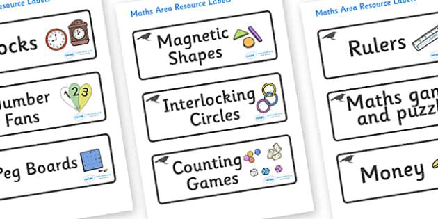 Blackbird Themed Editable Maths Area Resource Labels - Themed maths resource labels, maths area resources, Label template, Resource Label, Name Labels, Editable Labels, Drawer Labels, KS1 Labels, Foundation Labels, Foundation Stage Labels, Teaching L